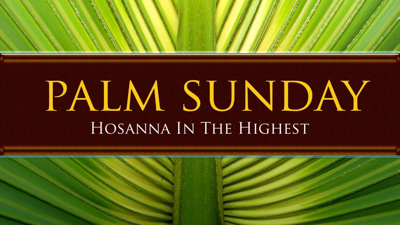 Palm Sunday 2021 Devotional